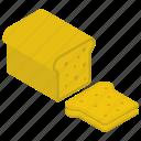 bread slice, breakfast bread, healthy food, sandwich bread, toast icon