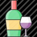 drink, wine, bottle, glass