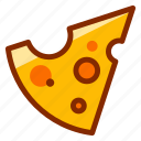 breakfast, cheddar, chees, cheese, dairy, slice, snack icon