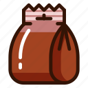 bag, food, lunch, pack, package, product, snack icon