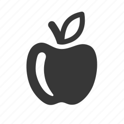 apple, eating, food, fruit, raw, simple icon