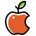 apple, color, food, fruit, red icon