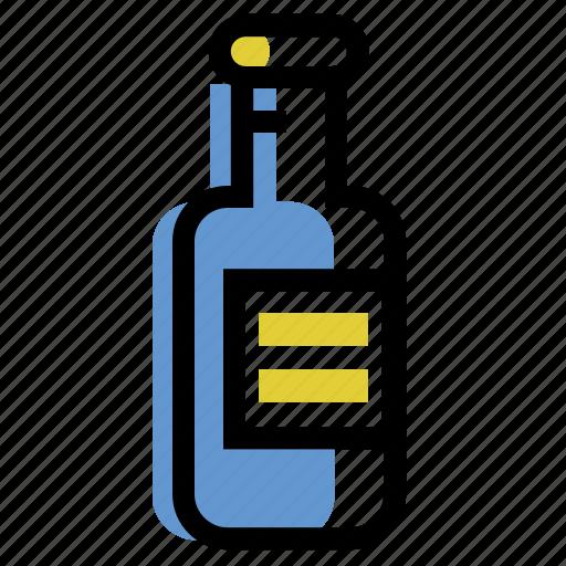 bottle, drink, flask, wine icon