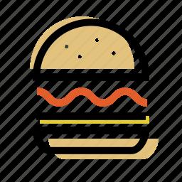 burger, cafe, food icon