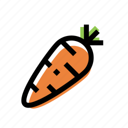 carrot, color, food, vegetable icon