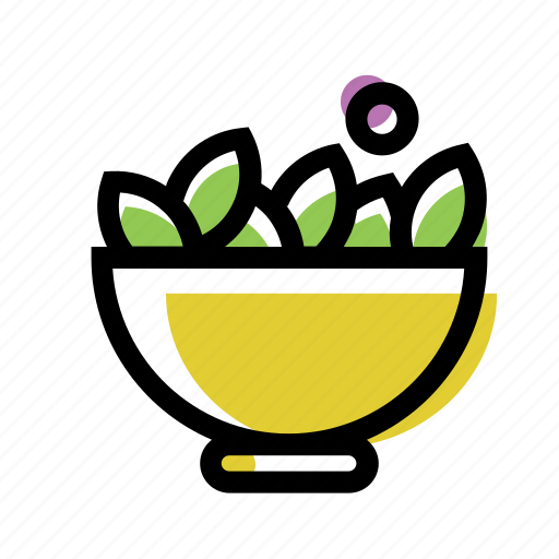 dish, food, plate, salad icon
