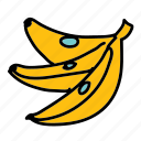 bananas, food, fruit, healthy, taste icon