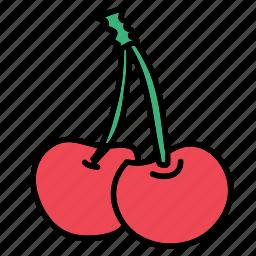 cherry, delicious, food, fruit, healthy, taste icon