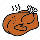 turkey, food, cooked, dinner, chicken, meal icon