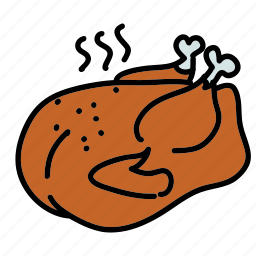 chicken, cooked, dinner, food, meal, turkey icon
