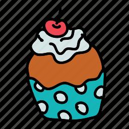 cupcake, dessert, food, sweet icon