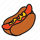 baseball, dinner, food, hotdog, meal icon