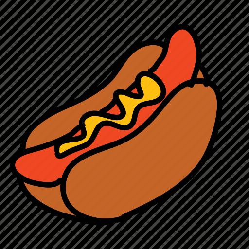 baseball, dinner, food, hotdog, meal icon