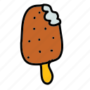 cream, dessert, food, ice, stick icon