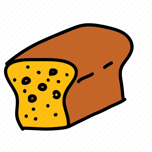 bread, breakfast, food, loaf icon