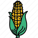 corn, food, harvest, ingredient, maze, taste icon