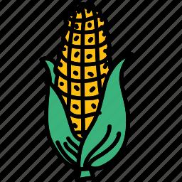 corn, food, harvest, ingredient, maze, taste icon