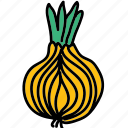 food, ingredient, meal, onion, taste, vegetable icon