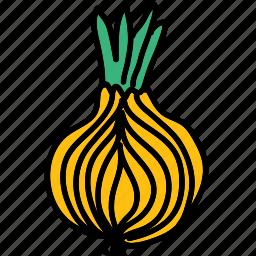 food, ingredient, meal, onion, taste, vegetable icon