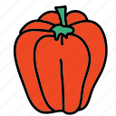 cook, food, ingredient, meal, paprika, vegetable icon