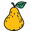 food, fruit, pear, pick, taste icon