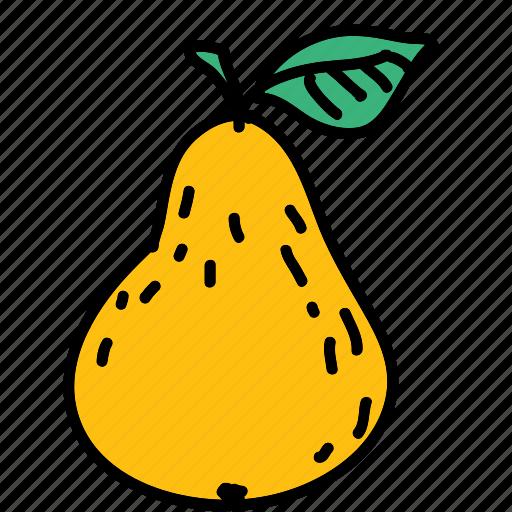 food, fruit, pear, pick, taste icon
