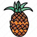 food, fruit, ingredient, pineapple, tropical icon