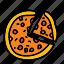 deliver, dinner, food, meal, pizza, taste icon