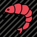 food, meal, ocean, sea, shrimp, shrimps, taste icon