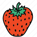 food, fruit, strawberry, sweet, taste icon