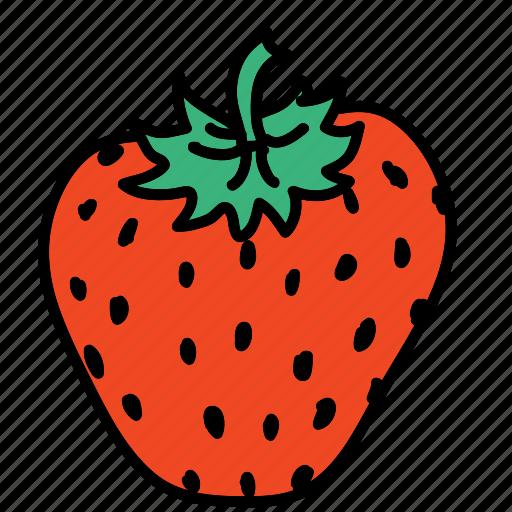 food, fruit, strawberry, sweet, taste icon
