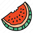 food, fruit, health, melon, taste, water icon