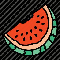 food, fruit, health, melon, taste, water icon