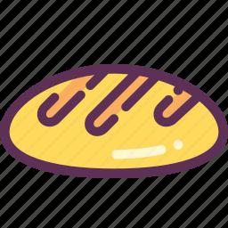 bread, breadcrumbs icon