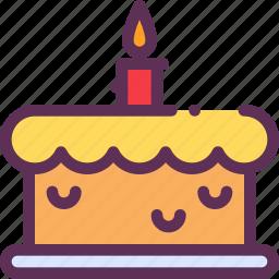 birthday, cake, candle, pie icon