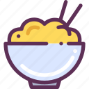 chineese, food, rice icon