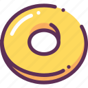 bread, circle, doughnut icon