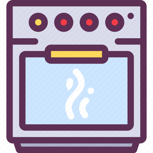 appliances, food, gas, household, prepare, stove icon