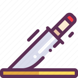 cook, kitchen, knife, table icon
