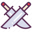 contest, cook, kitchen, knifes icon