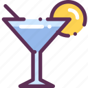 cocktail, lime, liqueur, martini icon