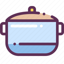 cook, food, pan, soup, storage icon