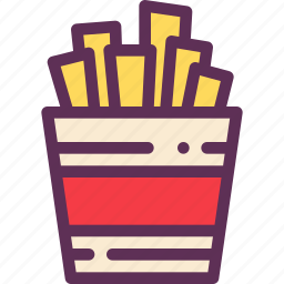 fastfood, food, french, fries, potatoes icon