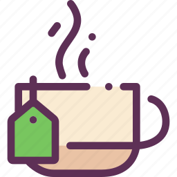 bag, cofee, cup, hot, tea icon