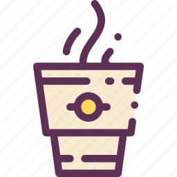 cofee, hot, mug, paper, tea icon