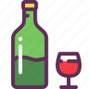 alcohol, dinner, glass, romantic, vine icon