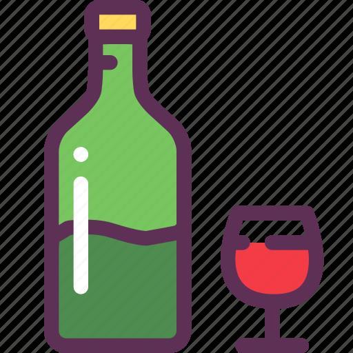 alcohol, dinner, glass, romantic, vine icon