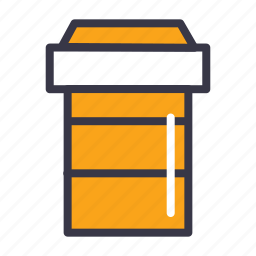 coffee, cup, drink, food, lid, mug, takeaway icon