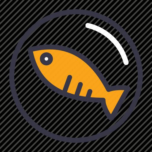 dinner, dish, fish, food, kitchen, restaurant, sea icon