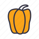 bell, capsicum, food, kitchen, paprika, pepper, vegetables icon